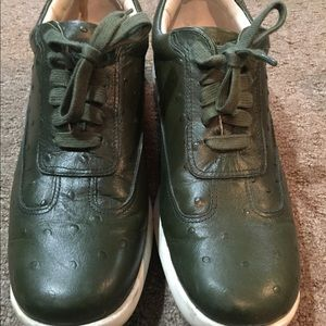 Cole haan air conner shoes (green ostrich print)